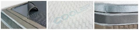 Grandeur Mattress Features: Adjustable Multi Zones, I-Cool Function, and Layered Latex Topper